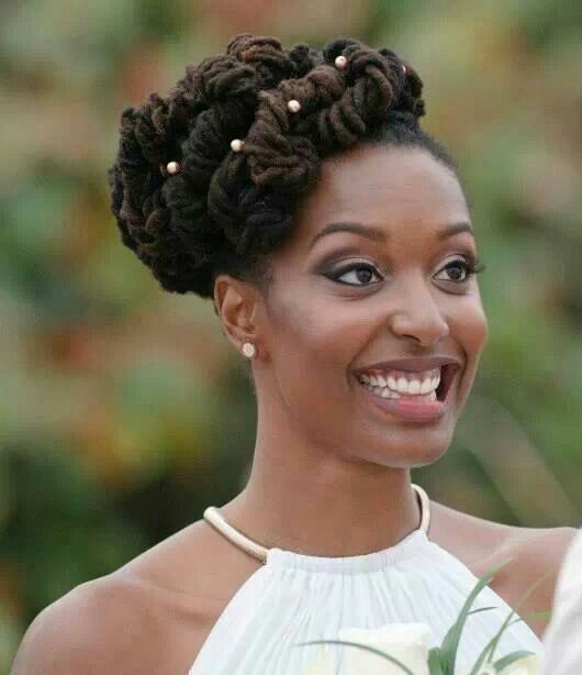 Pin By Tommie Parker On Locs Natural Wedding Hairstyles Hair Styles Dreadlock Wedding Hairstyles