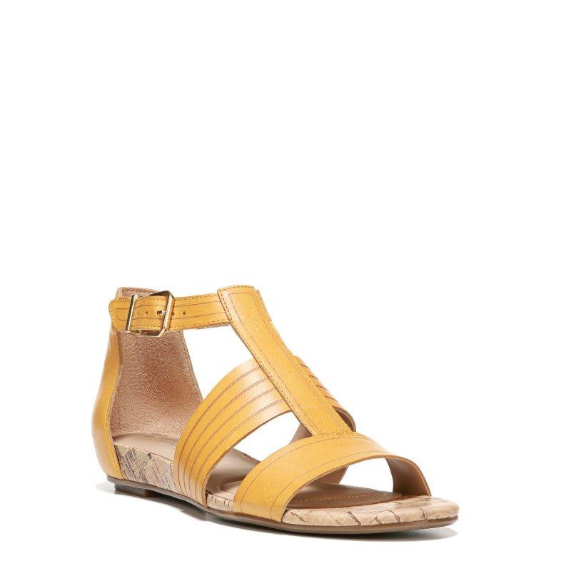 13dbb9a78b5a Naturalizer Women s Longing Narrow Medium Wide Sandals (Yellow Leather) -  8.5 N