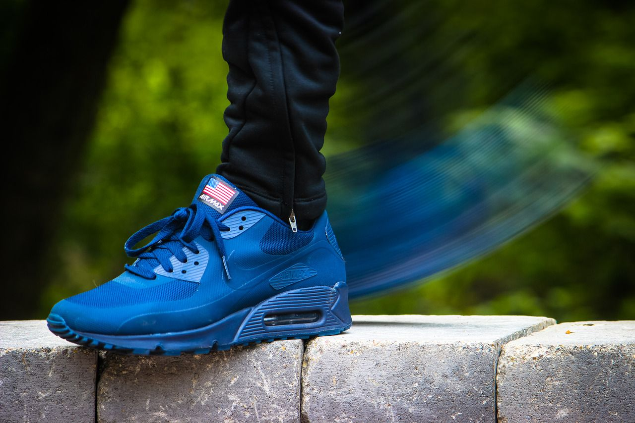 nike air max 90 hyperfuse independence day navy blue