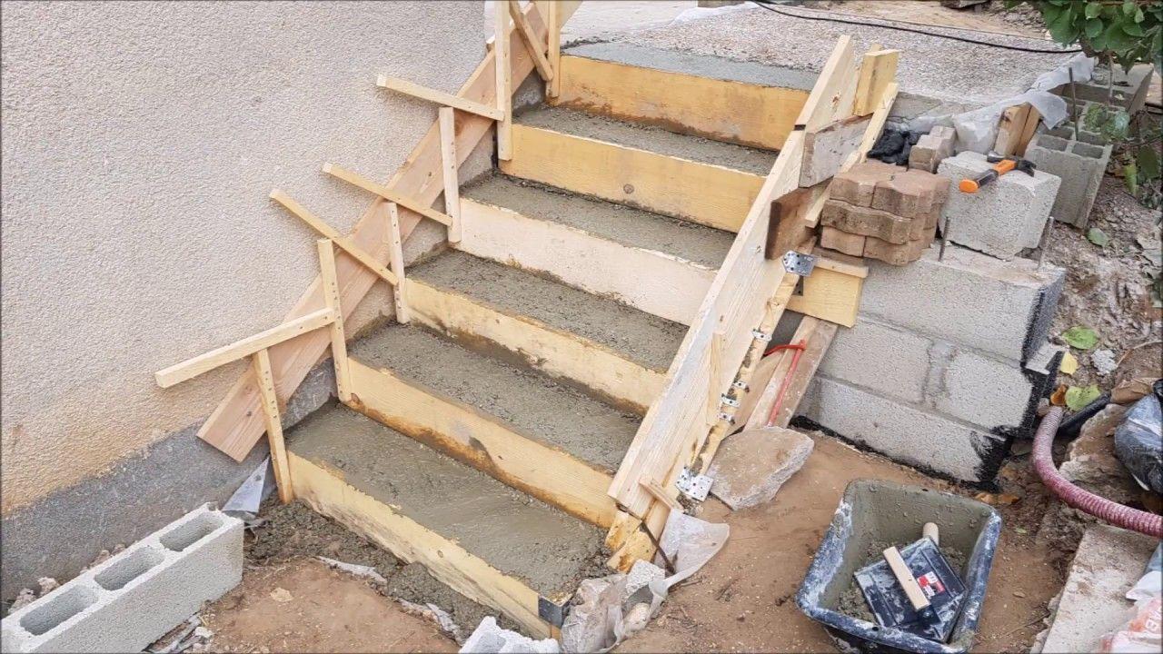Faire Un Escalier En Beton Escalier Beton Escalier Exterieur Beton Coffrage Escalier Beton