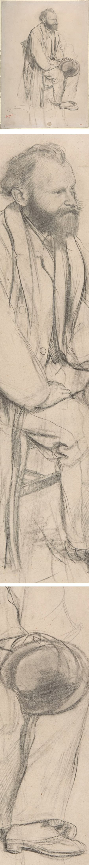 Edouard Manet, Seated, Holding His Hat, Edgar Degas