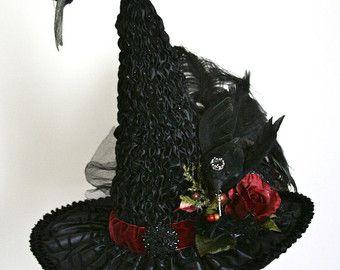 a654f25e85b1a Rich Elaborate Hand Sculpted Victorian Witch Hat by StudioSisu