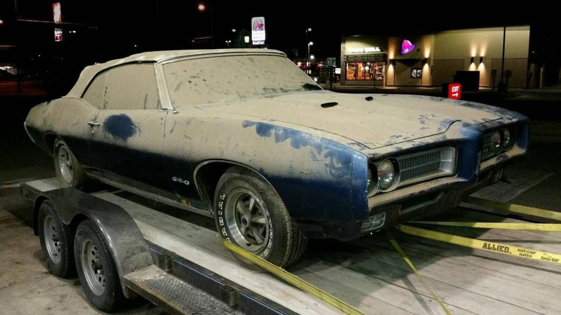 Late Night Run: 1969 Pontiac GTO Convertible - http://barnfinds.com/late-night-run-1969-pontiac-gto-convertible/