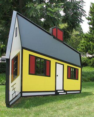 TRIPPY HOUSE SCULPTURE BY ROY LICHTENSTEIN   3D   Pinterest   Roy ...