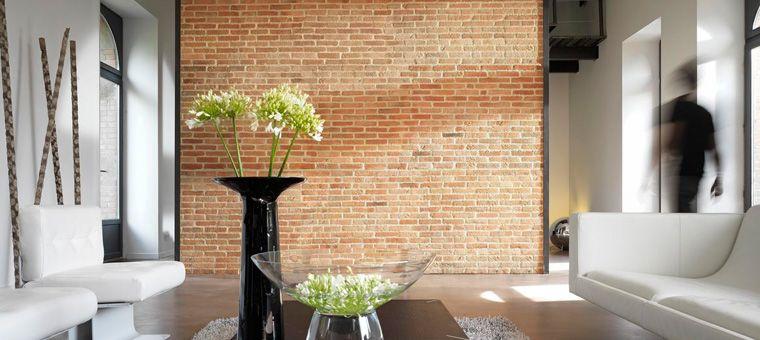 Carrelage mural imitation brique Kitchen deco Pinterest Salons
