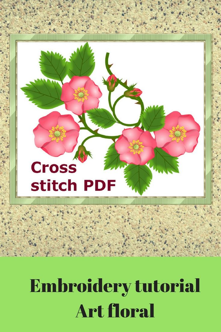 Flowercrossstitchpattern hot pink hand embroidered garden plants