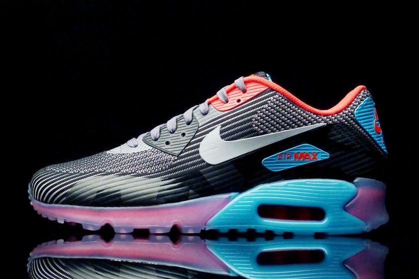 discount 24b06 0fa3a Nike Air Max 90 KJCRD Ice QS Dark Grey - Blue Lagoon