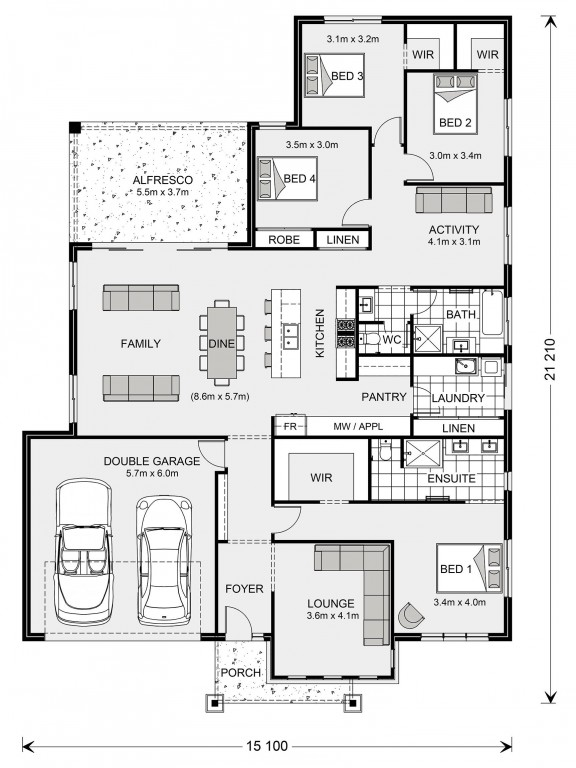 Single Story House Floor Plan Glenview 260 Home Design In 2020 Single Story House Floor Plans House Floor Plans House Layout Plans