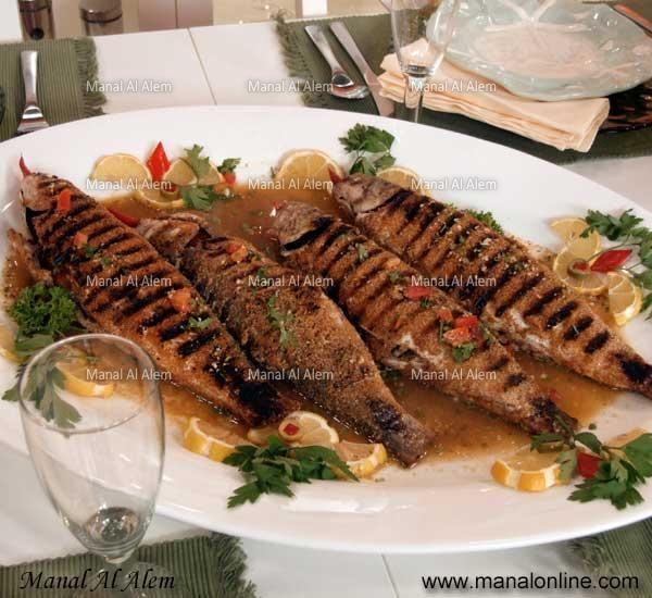 سمك مشوي Recipes Seafood Recipes Food