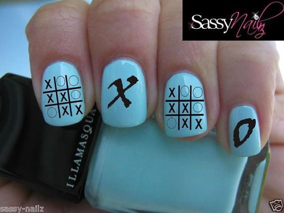 X Retro Nail Art Transfer By Sassynailzireland On Etsy 3 00 Retro Nails Nails Nail Art