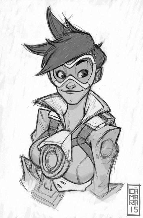Quick Tracer sketch. I really like Overwatch´s ... - The Art of ...