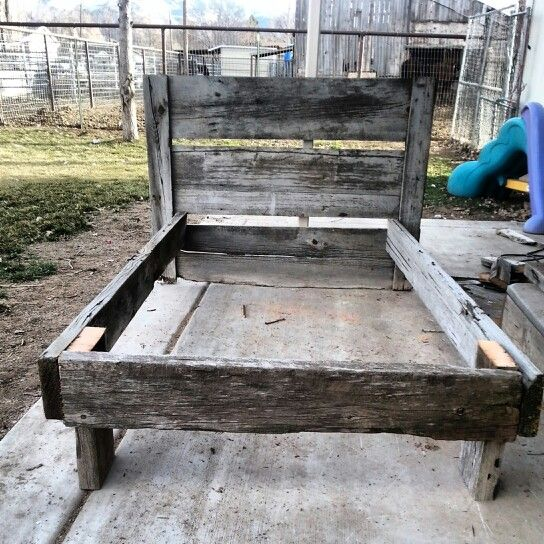 Twin Barnwood Bed Frame