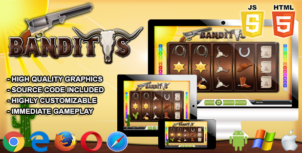 Banditos Html5 Casino Game By All Scripts The Banditos Is A Html5 Casino Game This Game Has Been Developed In Html5 Javascript A Casino Games Casino Games