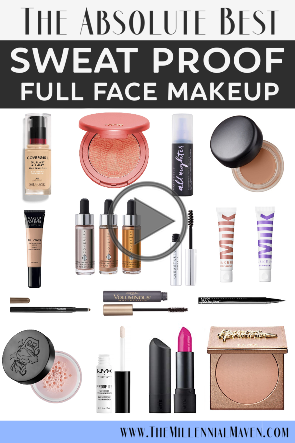 *UPDATED 2019* The Best Sweat Proof Makeup Products for a