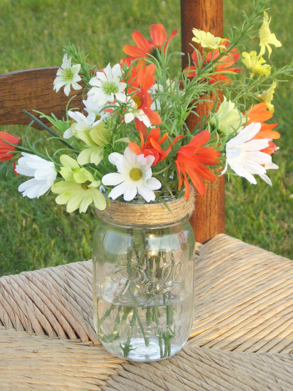 Antique table with mason jar centerpiece ideas design e2