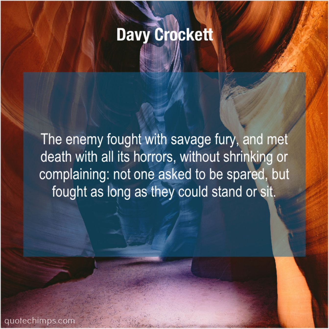 Davy Crockett The enemy fought with savage… Adam