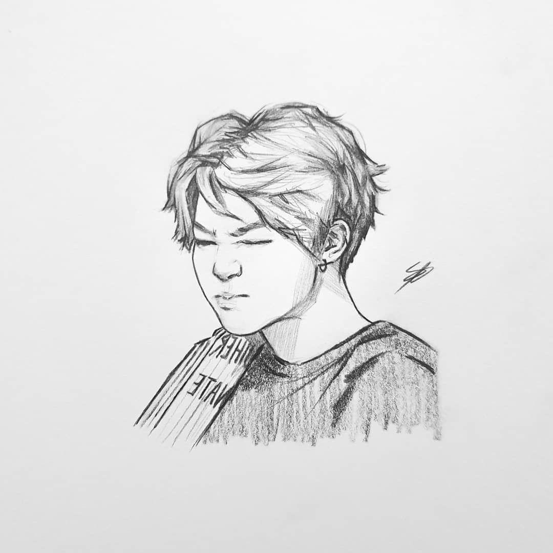 Pin de Malak Al musawy em Fanart   Bts desenho, Desenho de rosto ...