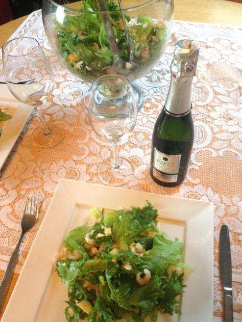 Salaatti nro 45 - toisenlainen länsirannikon salaatti ja Papet del Mas -cava