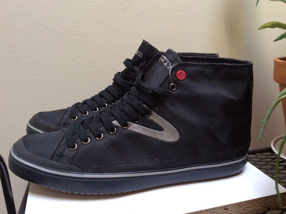 Men's Black Tretorn GORETEX Skymra Mid High Top Sneakers Sz