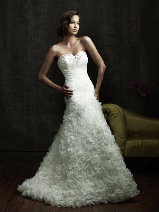 Allure Style 8819 Ivory Wedding Dress Size 8 Allure Wedding Dresses Strapless Wedding Dress Sweetheart Bridal Dresses
