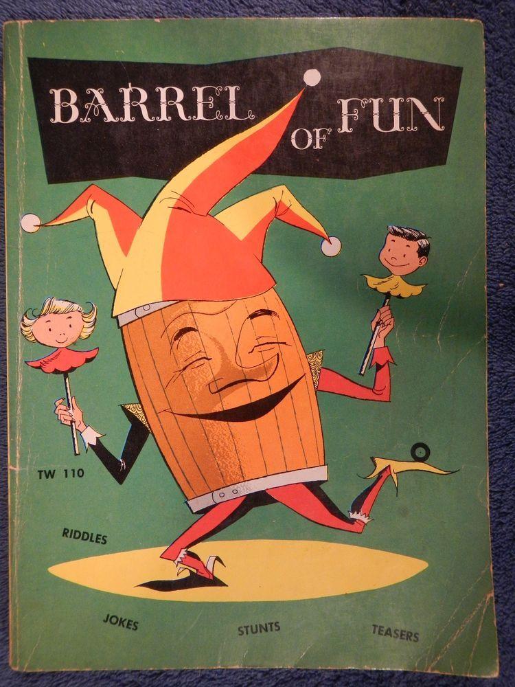 1957 Barrel Of Fun Kids Joke Riddle Puzzle Paperback