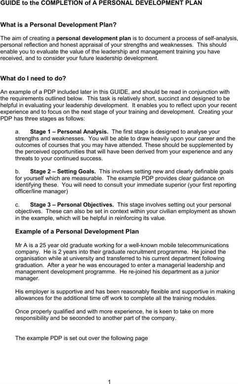 Personal Development Plan Sample | Personal Development | Pinterest