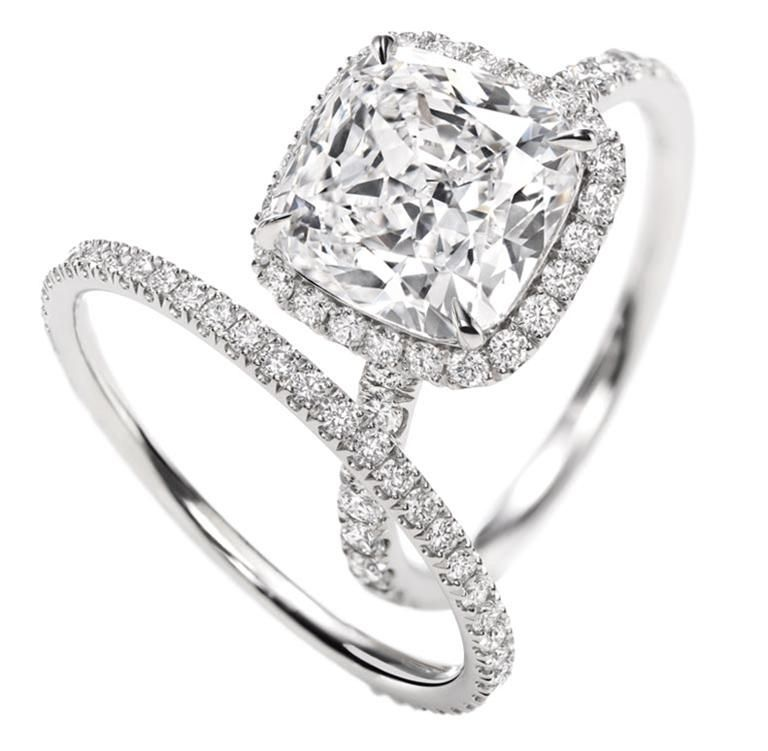 bague diamant coussin harry winston