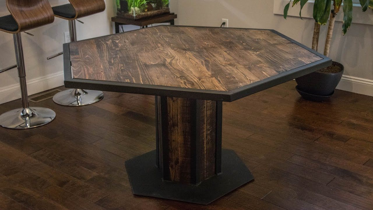 Industrial Style Hexagon Dining Table Dining Table Industrial
