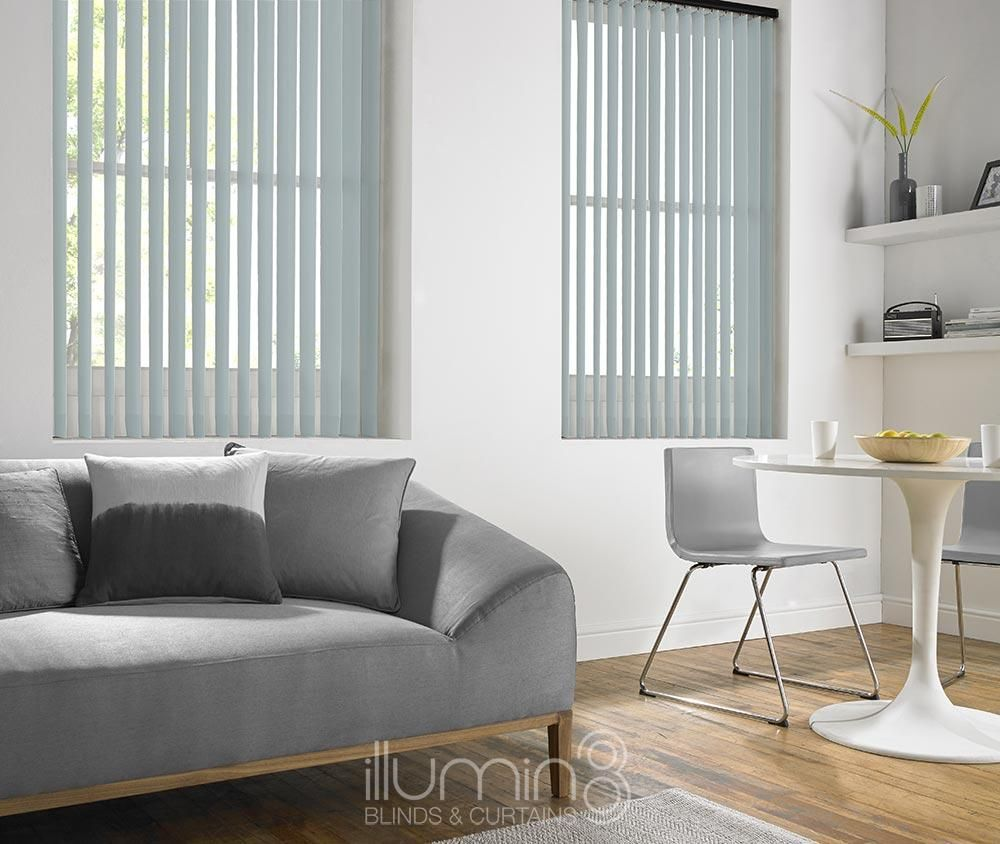 These Blue Livorna Vertical Blinds Are Available In Diffe Forms Including Wood Lace Aluminium Rigid And Fabric