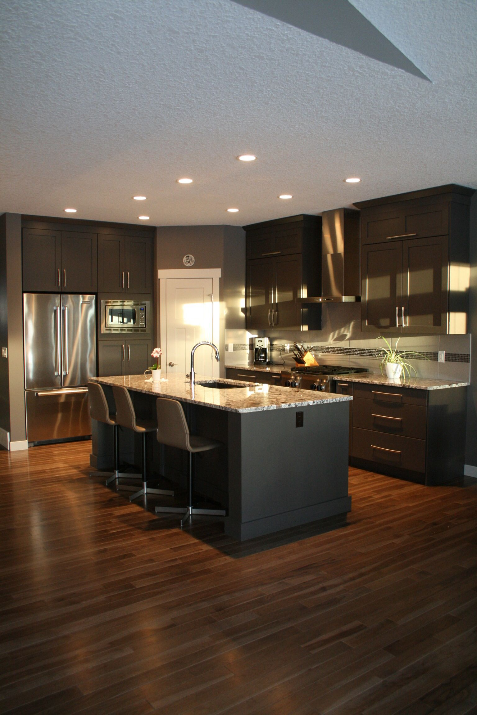 Gray kitchen cabinets - Westridge cabinets Calgary, Alberta