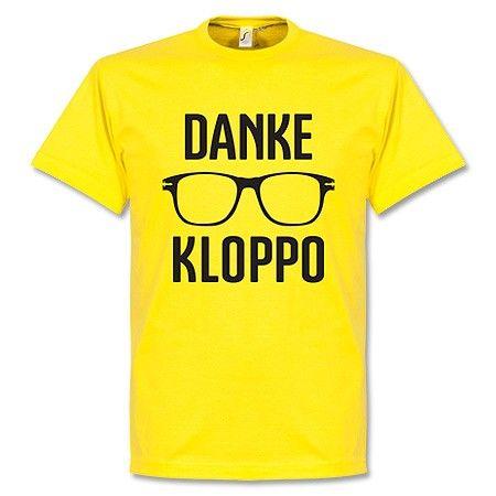 T-Shirt Danke Klopp - Amarillo/Negro #dankekloppo #bvb
