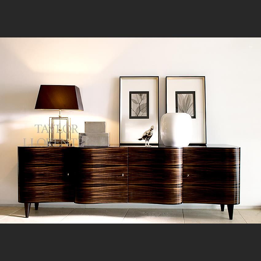 A Differentiated Credenza Sideboard Characterised By Curvaceous Lines And Profile Providing A Sculptu Sideboard Furniture Luxury Sideboard Geometric Sideboard