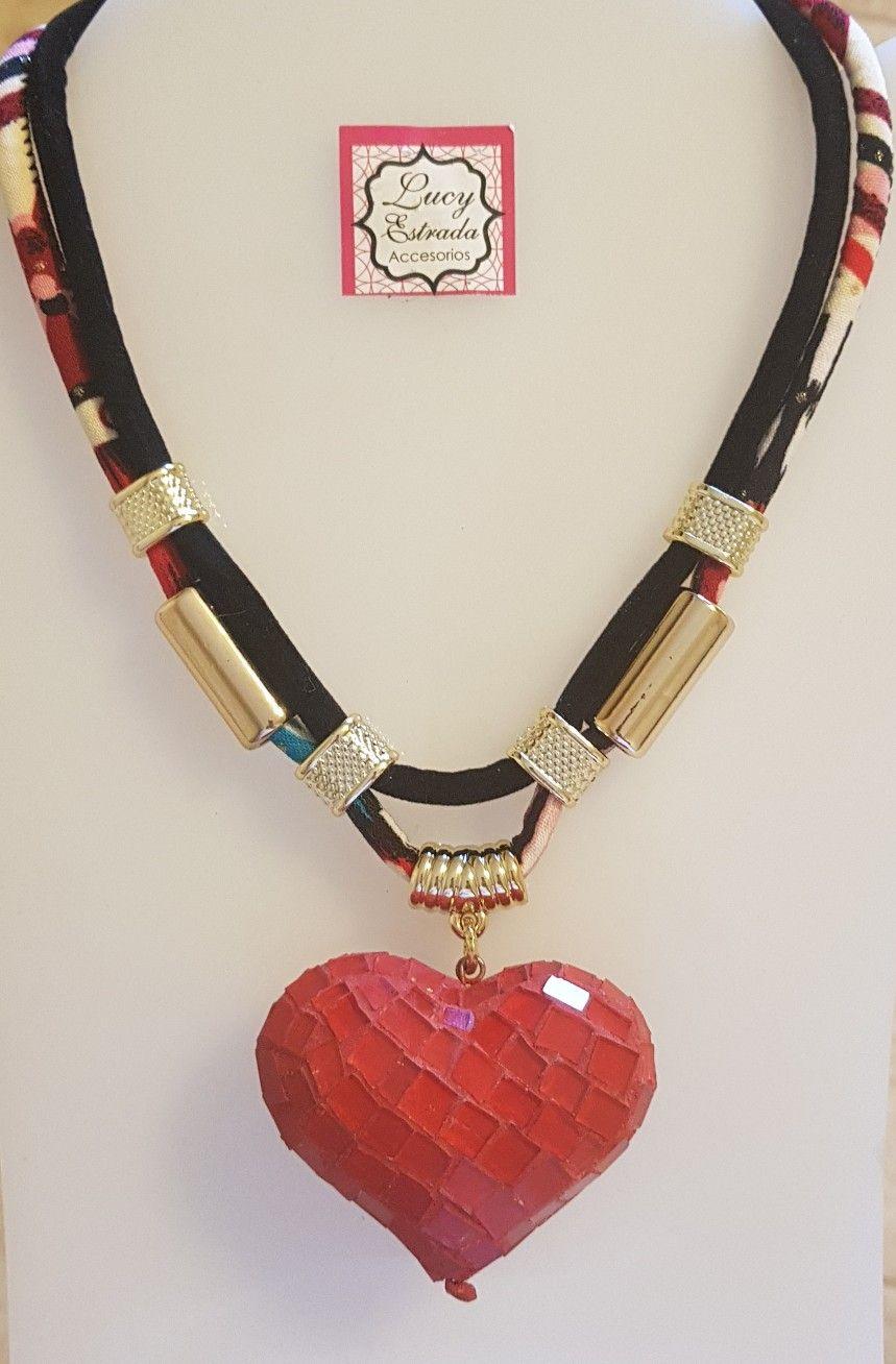 Collar #corazón #rojo #bisuteria #bisuteriafina #necklace #fashion ...