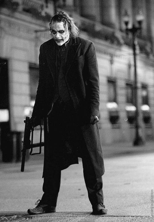Heath Ledger in Christopher Nolan's The Dark Knight