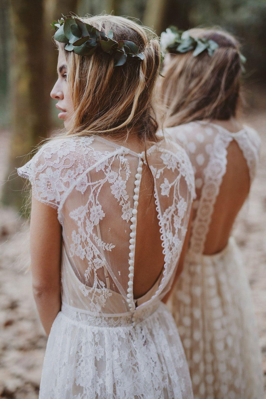 Terra mar immaclé novias estilo boho chic con vestido de encaje