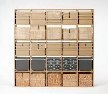 重なる竹材長方形ボックス,おもちゃ,収納,無印