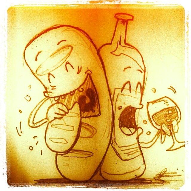 Al Pan Pan Y Al Vino Vino Ilustraciones Refranes