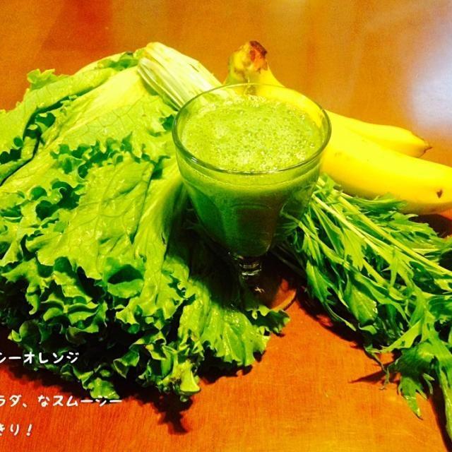 朝からサラダ!なイメージで。スムージーにすると、消化に優しくなるので、朝からいっぱい野菜がとれます^ - ^ - 15件のもぐもぐ - スムージー  015 by asakoyoshiOJY