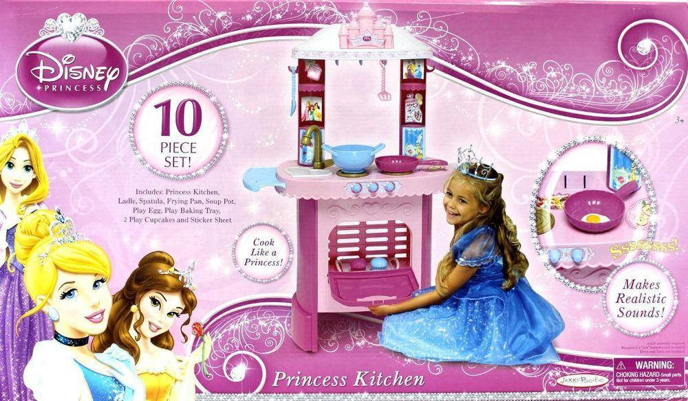 Disney Princess Kitchen 10 Pc Girls Cooking Play Set Pretend Play