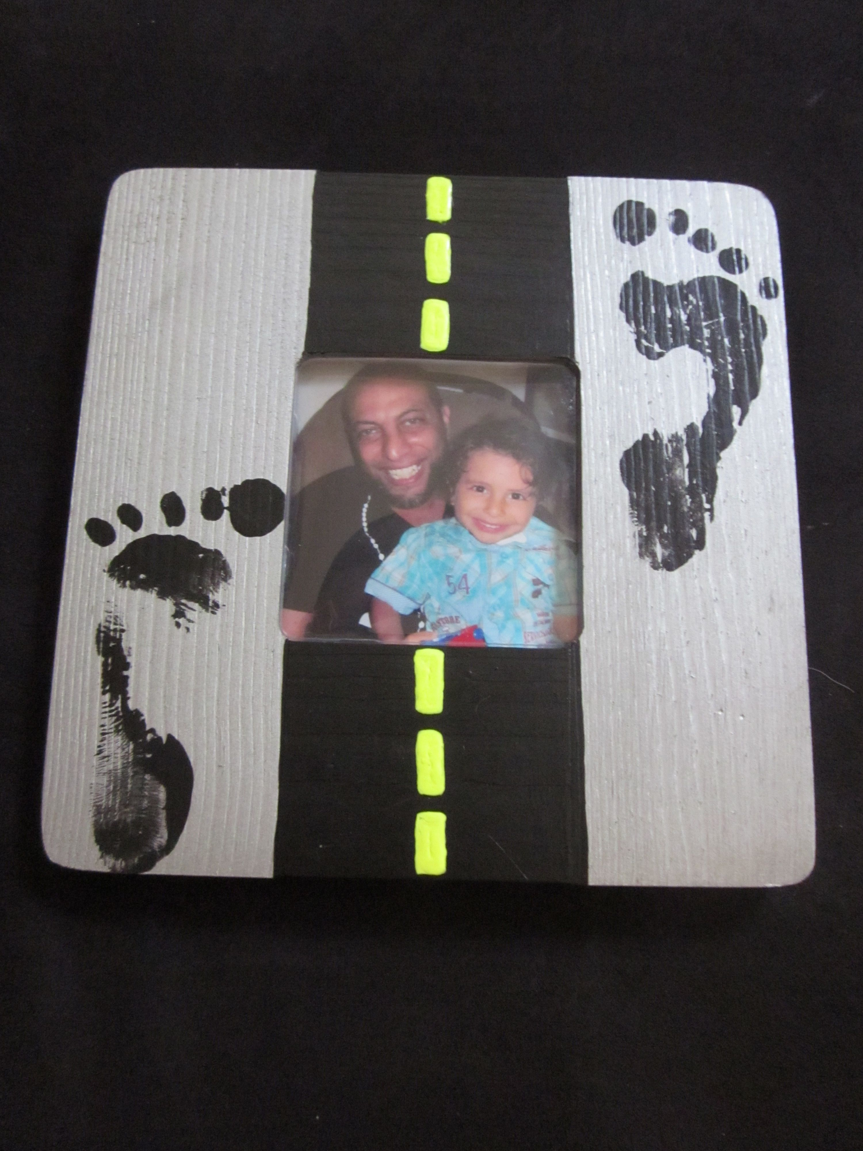 Our daddy\'s day gift/craft... wooden frame from Michaels, acrylic ...