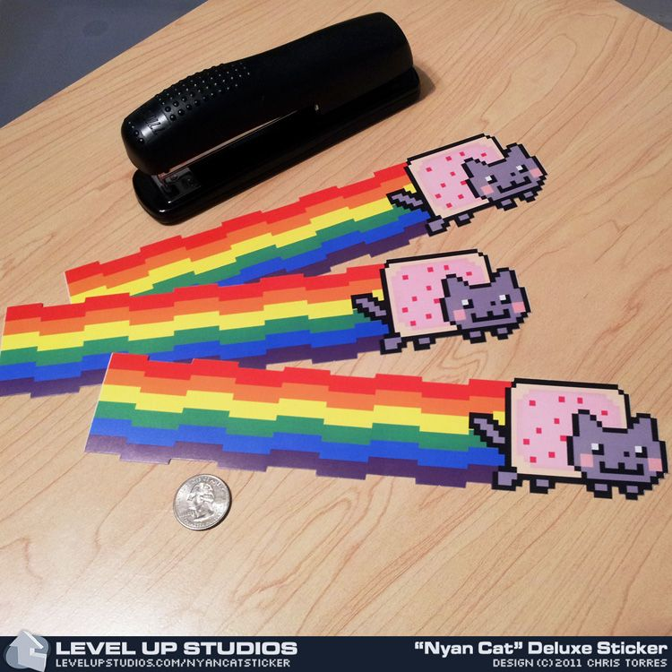 Nyan cat 10 inch stickers disappointed that i havent seen one of