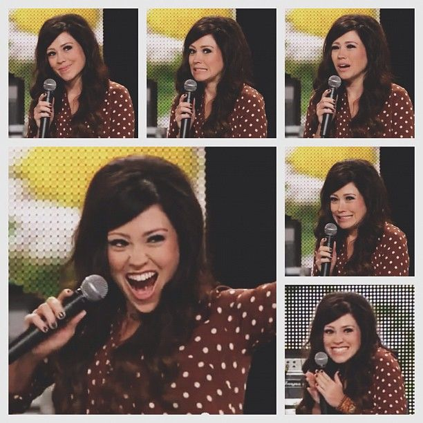 The very expressive, one and only, Kari Jobe. Love her! :D (although I still can't see her without laughing at Zac @Sydney Helm)