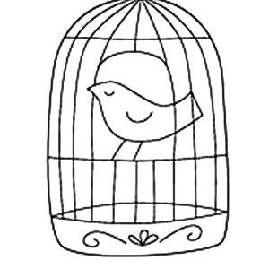 Bird Flying From Bird Cage Coloring Pages Bird Flying From Bird
