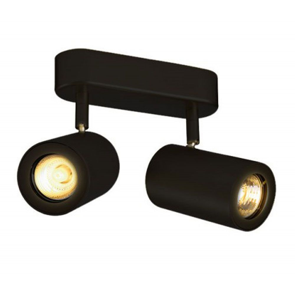 Slv Enola B Double Wall And Ceiling Spotlight In Black