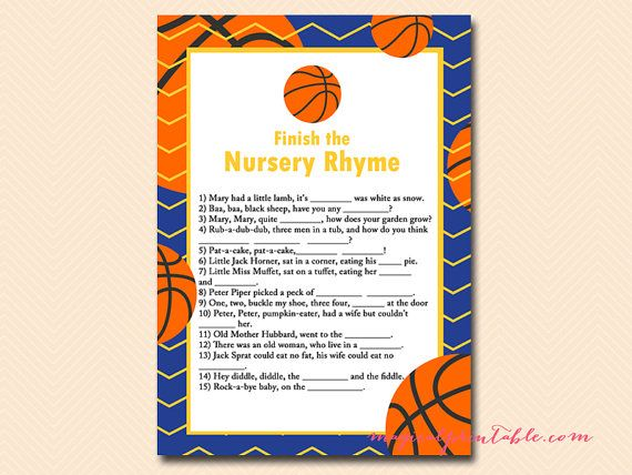 Instant Download Blue And Yellow Basketball Baby Shower Game Printables Basketball T Basketball Baby Shower Celebrity Baby Names Basketball Theme Baby Shower