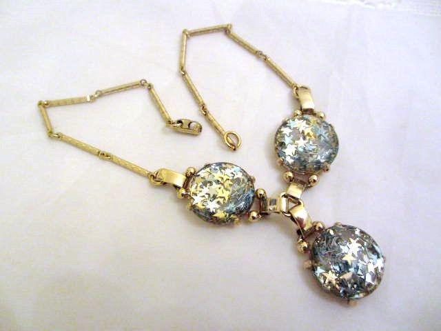 Coro Confetti Art Deco Retro Star Necklace 1960s di OurBoudoir, $38,00