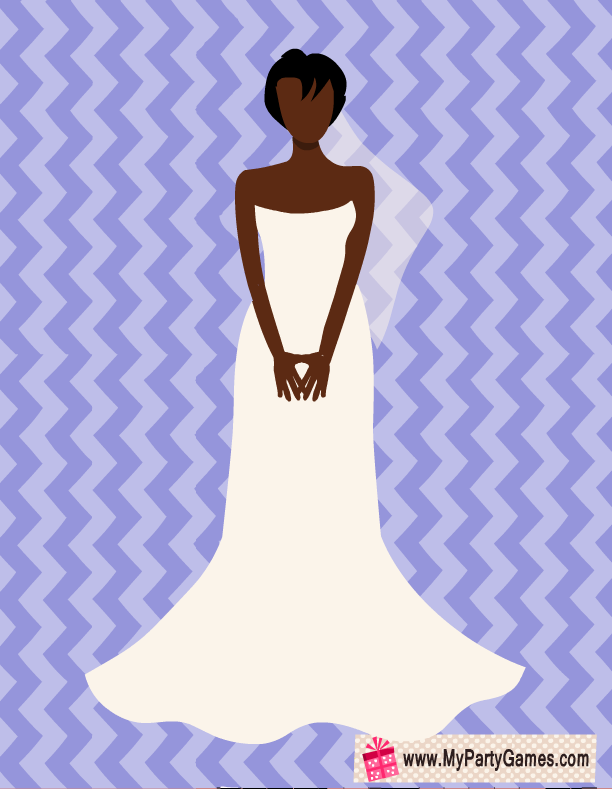 free printable pin bouquet on african american bride game