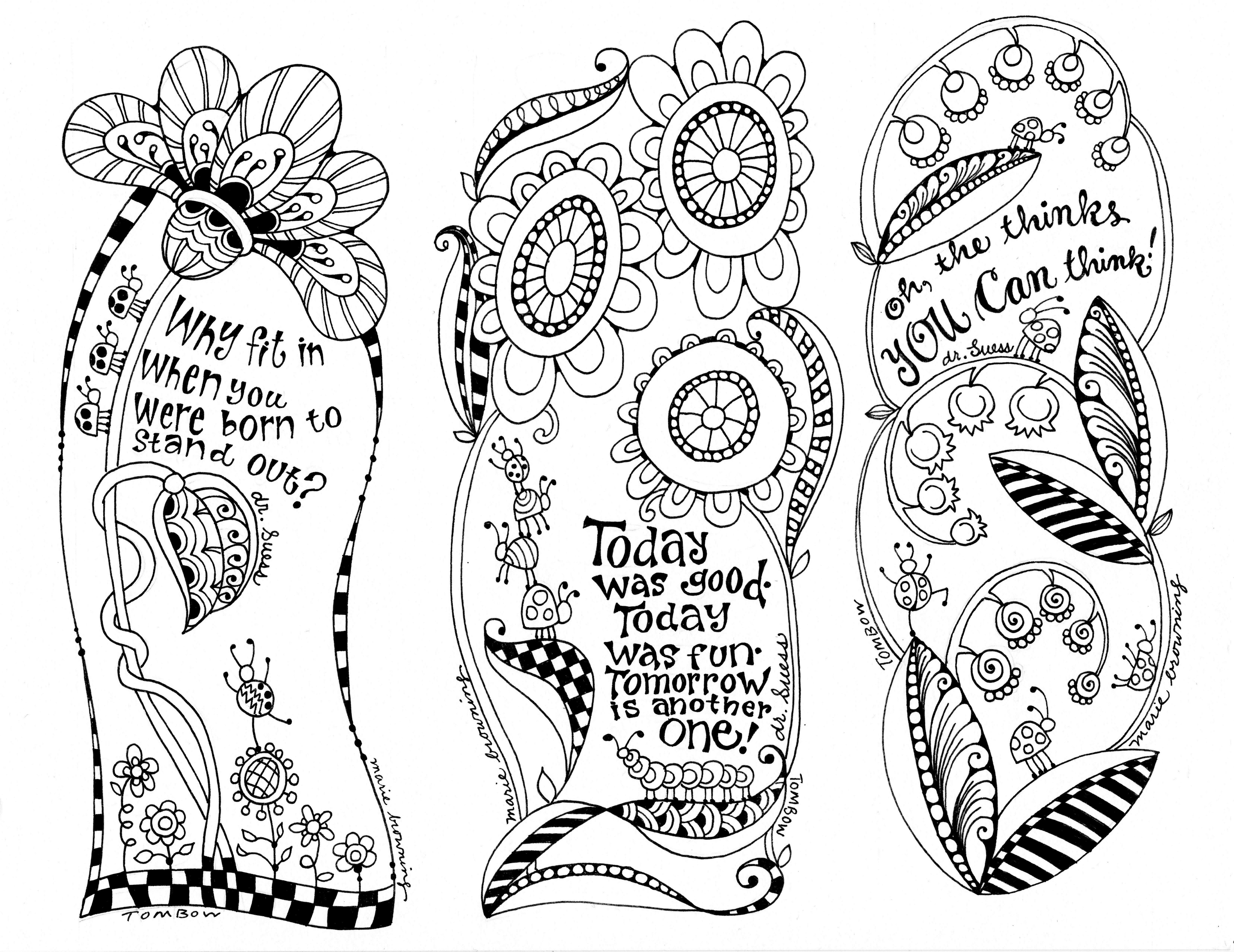 Dr. Seuss Coloring Page Illustrated By Marie Browning