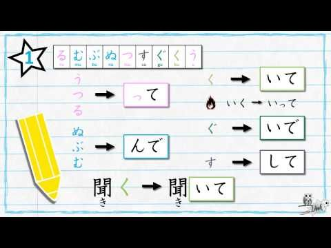 Learn Japanese verb conjugation: TE form (て形) - YouTube | EJ ...