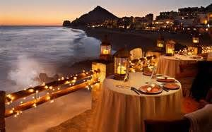 Dinner on the beach sunset - Romantic
